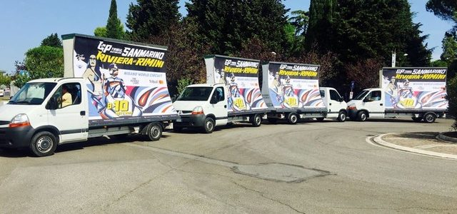 Camion Vela al MotoGp di  San Marino-Riviera di Rimini